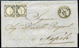 NAPOLI 1 GR X 2 Interessante Da ORTONA Per Napoli 1 GEN.1862 Data CAPOVOLTA! - Nápoles