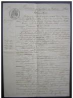 Narbonne (Aude) 1865 Réquisition De Leon Servule Longueville Et Séverin Ribezautes Contre Just Saury (Roubia) - Manuscripts