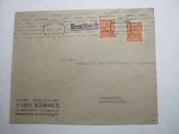 1923 , Hamburg , Perfin , Firmenlochung , Brief - Briefe U. Dokumente
