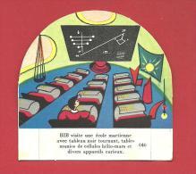 CHROMO Carte Ou Image à Poser BIB Visite Une école Martinene ...n° 646  GROSJEAN LA VACHE SERIEUSE - Other