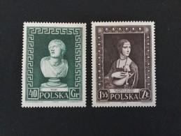 1956 Leonardo Da Vinci Yvert 880 *) + Niobe Yvert 878 *) - Neufs