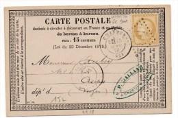 1876 - CARTE PRECURSEUR N°18 De CHARMES (VOSGES) Avec GC 901 - Marcophilie (Lettres)