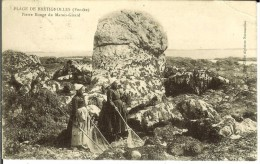 CPA  Plage De Brétignolles, Pierre Rouge Du Marais Girard  8304 - Sin Clasificación