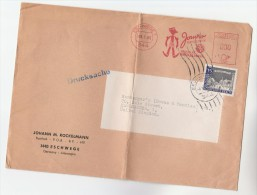 1985 Eschwege GERMANY COVER Franked Both  METER Illus SLOGAN JOHANN TEXTILTECHNIK & WEST BERLIN Stamps To GB - Covers & Documents