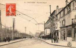 CPA - ENGHIEN (95) - Aspect De La Rue Du Départ Et De La Société Générale En 1924 - Enghien Les Bains