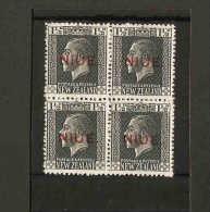 NIUE 1917 1½d In Unmounted Mint Block Of 4 SG 25 X 4 Cat £4 - Niue
