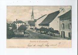 SOUVENIR DE COURRENDLIN (9204 516) RUE ET EGLISE 1900 - JU Jura