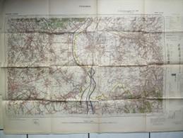 Carte Allemande 1941 1/40000 Tongeren Fouron Remersdael Canne Eben Emael Riemst Bilsen Maastricht Visé Veldwezelt - Topographische Karten