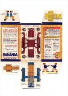 """Boite Banania De 1Kg Série """" Les Automobiles, Dauphine Renault """" Des Années 1960. Non Découpé En Bon état - Advertising"""