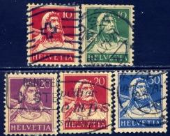 Zwitserland 1914, Switzerland, Suisse, Helvetia, Schweiz, William, Guillaume Tell, SG 279 / 293, YT 138 / 205 - Gebruikt