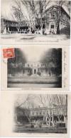 AVIGNON  - 3 CPA - Ecole Normale -- Cour D' Honneur Et Mt Henri Fabre      (85999) - Avignon