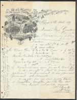 Facture Illustrée 1899 Vignes à Saint Georges Hérault (31) - Old Professions