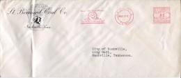 6729 U.s.a. Red Meter Freistempel 1941  Nashville, Tenn. The New St.bernard Coal, Showing A St.bernard Dog, Chien,hund - Hunde