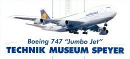 BRD Technik Museum Speyer Boing 747-230 Jumbo Jet - Aufkleber