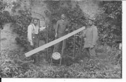Marsoupe 1915 Soldats Allemands Devant Un Panneau Souvenir Peint De La Ferme De Marsoupe 1 Carte Photo 1914-1918 Ww1 Wk1 - War, Military