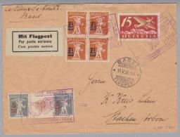 Schweiz Zwischensteg 1926-05-17 FP-Brief Mit Zu#S15 - Se-Tenant
