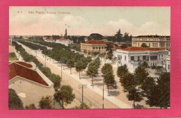 BRESIL SAO PAULO, Avenida Tiradentes, 1907,  (G. Gaensly) - São Paulo