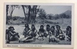 AFRICA ORIENTALE BANCHETTO DI CUNAMA NELLA FORESTA NV FP - Cartoline