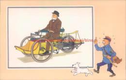 Driewielig Motorwagentje Van Leon Bollee 1896 Prent Kuifje Zien En Weten - Kuifje