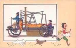 Stoomwagen Pagani 1830 Prent Kuifje Zien En Weten - Kuifje