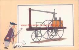 Stoommachine Murdoch 1784 Prent Kuifje Zien En Weten - Tintin