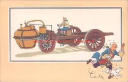 Blokwagen Cugnot 1769 Prent Kuifje Zien En Weten - Tintin