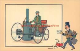 Stoomvierwieler Van De Dion 1844 Prent Kuifje Zien En Weten - Tintin