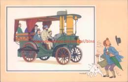 Stoomwagen La Rapide 1881 Prent Kuifje Zien En Weten - Tintin