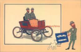 Stoomwagen Stanley 1897 Prent Kuifje Zien En Weten - Kuifje