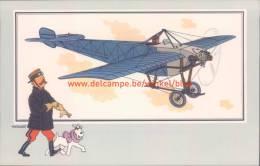 Eendekker Nieuport 1910 Prent Kuifje Zien En Weten - Tintin