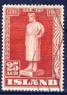 ##K2849. Iceland 1941. Michel 223. Cancelled. - 1918-1944 Administration Autonome