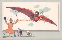 Vliegtuig Van Ader Prent Kuifje Zien En Weten - Tintin