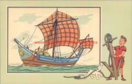 Koopvaardijschip Romeinse Keizerrijk Prent Kuifje Zien En Weten - Tintin