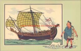 Schip Heilige Paulus Prent Kuifje Zien En Weten - Tintin