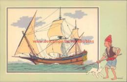 Jacht XVIIe Eeuw Prent Kuifje Zien En Weten - Tintin