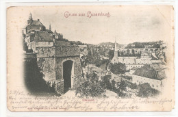 Cpa Gruss Aus Luxembourg Clausen 1904 - Luxembourg - Ville