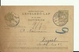 CRO1330   --  DOPISNICA  --  1905  --  IGNA SONNENFELD, VUKOVAR  --  JEWISH - Croatia