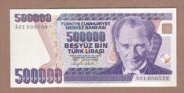 AC - TURKEY -  7th EMISSION 500 000 TL A 01 000 539  UNCIRCULATED - Turquie