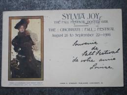 SYLVIA JOY  -  THE FALL FESTIVAL POSTER GIRL  (August 28 To September 22-1906) - Cincinnati