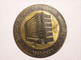 Soviet Union Ca 1980 Odessa Marine Engineering Institute Schiff Ship Table Medaille Diam 6 Cm - Pièces écrasées (Elongated Coins)