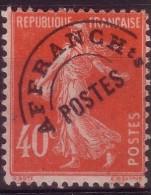 Type Semeuse Fond Plein 40c Vermillon - 1893-1947