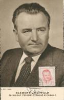 Carte Maximim - Klement Gottwald  Président - Tsjechië