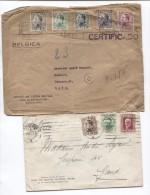 Spain-Espana-Espagne  2 Covers One Registered Barcelona 1933 To Belgium PR2974 - 1931-Aujourd'hui: II. République - ....Juan Carlos I