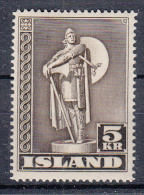IJSLAND - Michel - 1943 - Nr 230A - MH* - 1918-1944 Unabhängige Verwaltung