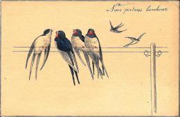 [DC2680] CPA - UCCELLINI PORTA FORTUNA - Non Viaggiata - Old Postcard - Uccelli