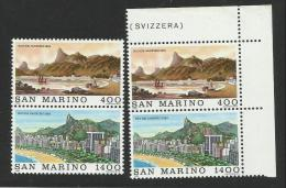 1983 San Marino  Saint Marin RIO DE JANEIRO 2 Serie Di 2v. MNH** Coppia - Geografia