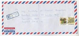 REGISTERED Air Mail BUKIT MERTAJAM  MALAYSIA Stamps COVER To GB Malaya Fruit - Malaysia (1964-...)