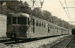 PHOTO HERMANN TRAIN 290316 - Wagon 2 -locomotive Gare Chemin De Fer - Stations With Trains
