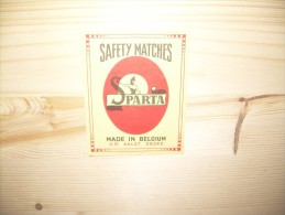 Lucifer Etiket Sparta - Matchbox Labels