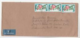 Air Mail NIGERIA Multi  Stamps COVER To GB Airmail Label - Nigeria (1961-...)